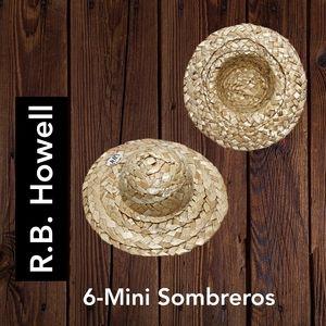 "🔴 15/$25. Mini 4"" Sombreros - 6 Pieces"